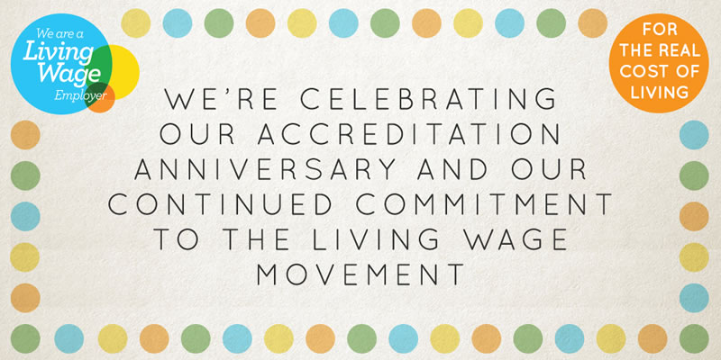 Living Wage Anniversary Banner