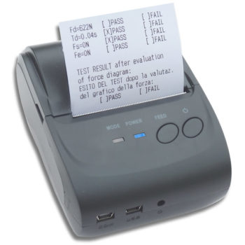 FTP wireless portable printer for BlueForce Speedforce Gate Impact testers